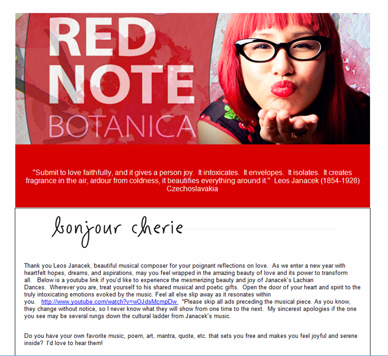 Red Note Botanica Enewsletter Template Design Constant Contact