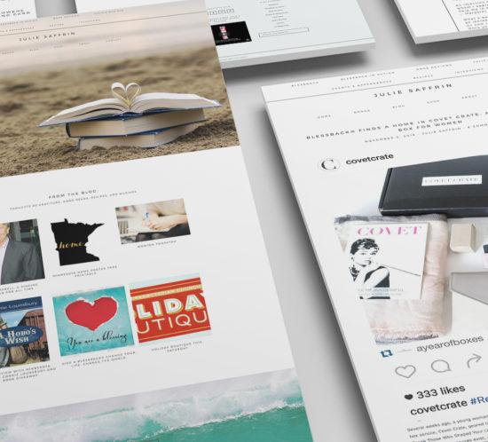 Julie Saffrin Author Website Design