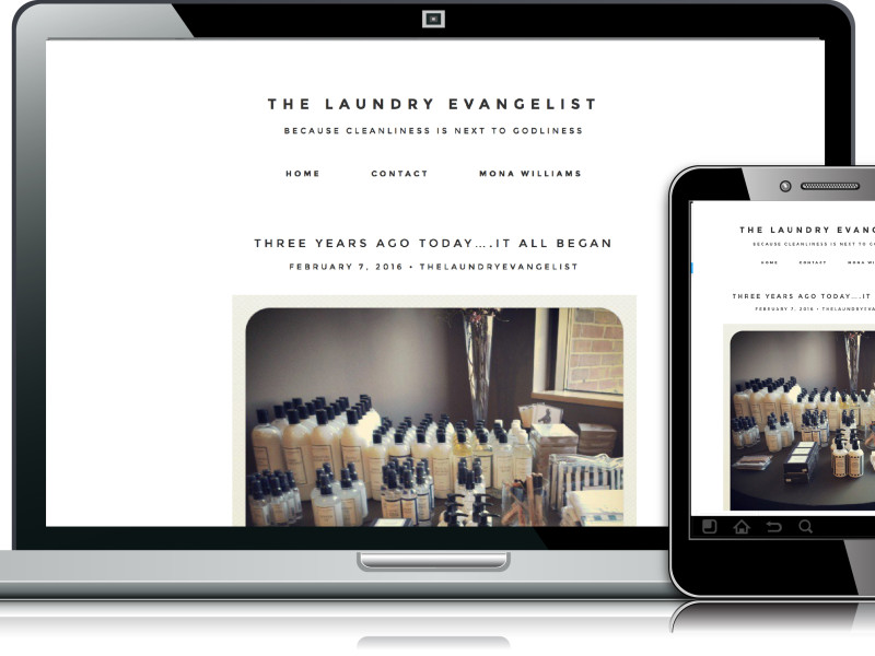 laundry evangelist web design website layouts