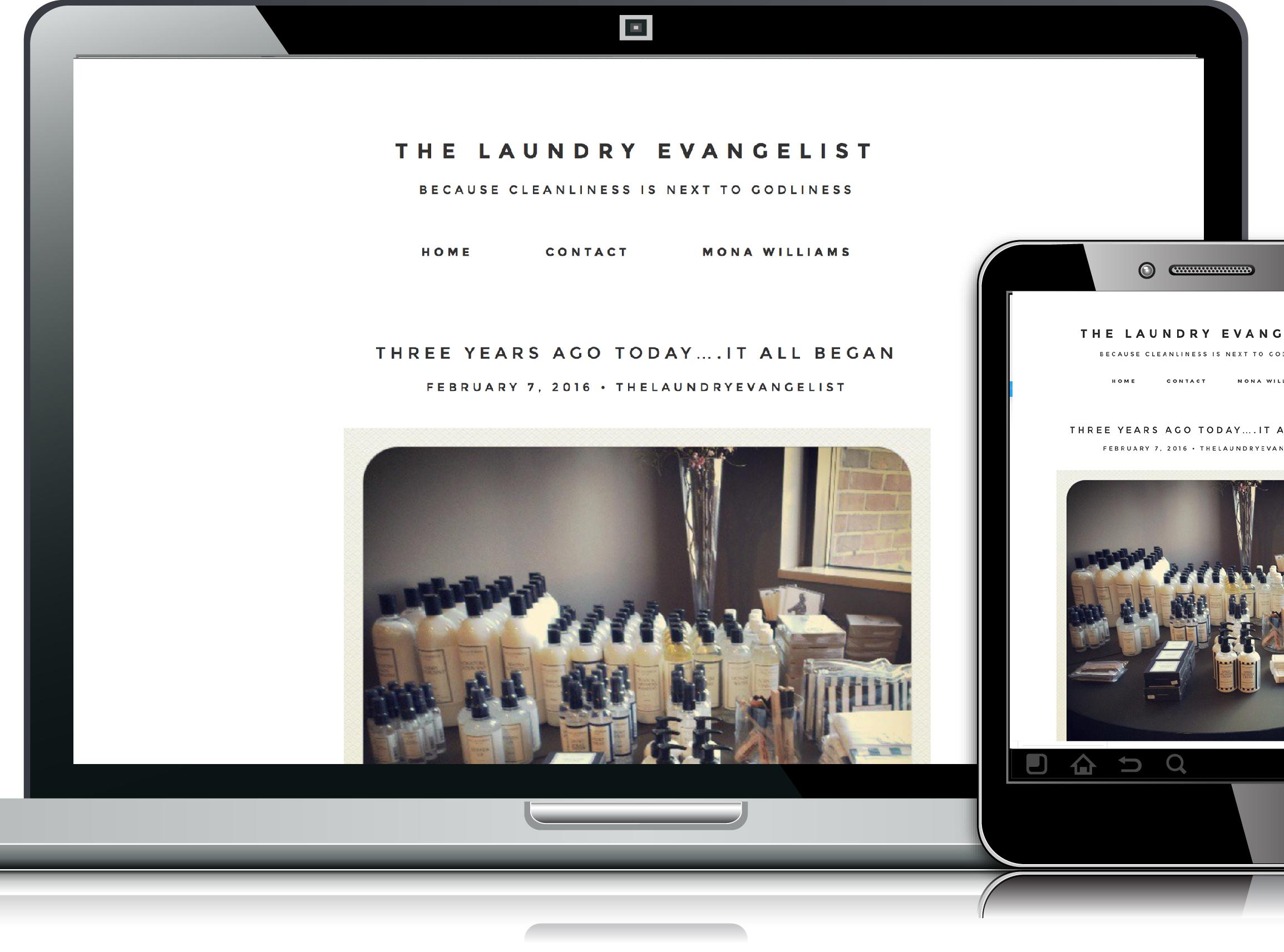 laundry evangelist web design website layouts