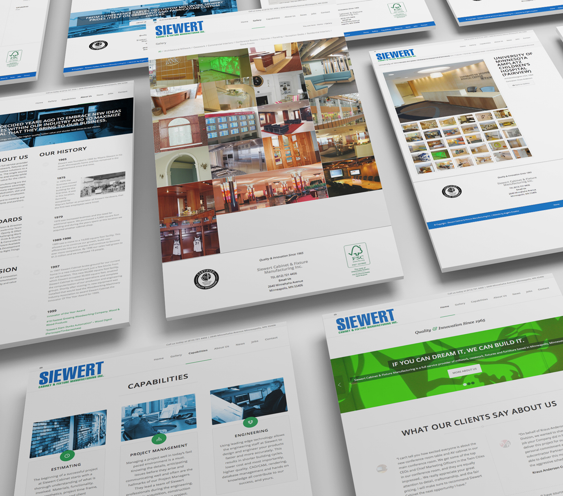 Siewert Cabinet Website Design