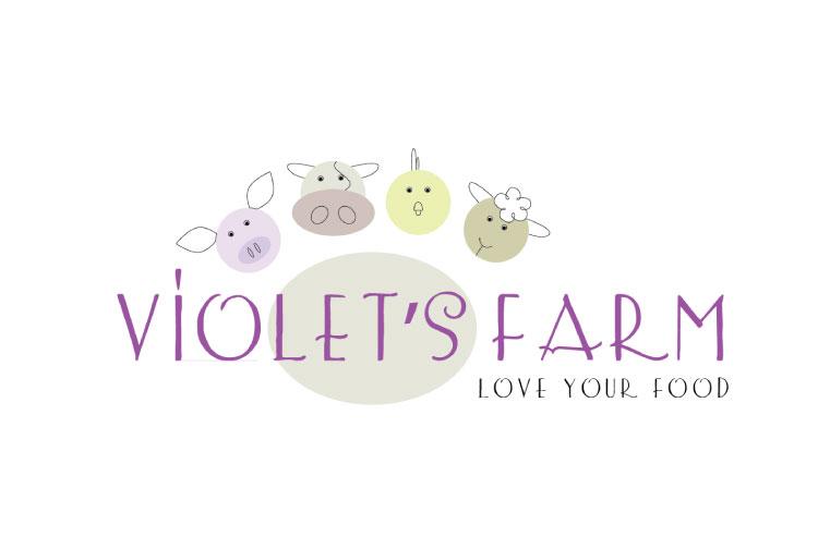Violet's Farm logo Angie Hughes Graphic Designer